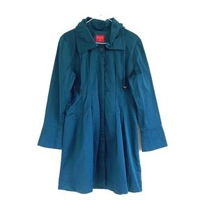 Elle Coat Dark Turquoise Size Medium